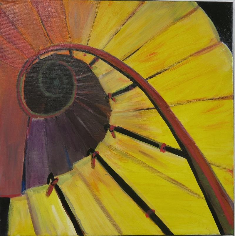 Caracol - toile peinte par Pauline 9 ans